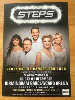 STEPS 1 x 2017 PARTY ON THE DANCEFLOOR UK TOUR FLYER FOR BIRMINGHAM (SIZE A5)