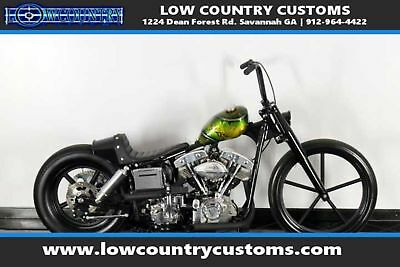 Harley Davidson Custom Bobber  &S 93 cu in Custom One-of-a-kind Paint Bobber chopper kick start old school