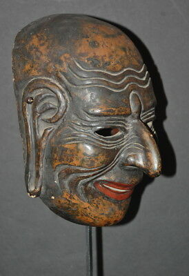 19th C Japanese Lacquer Gigaku Mask