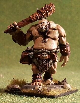 Painted Ogre Guard Reaper Fantasy Miniature, for role-playing, kings of war, d&d