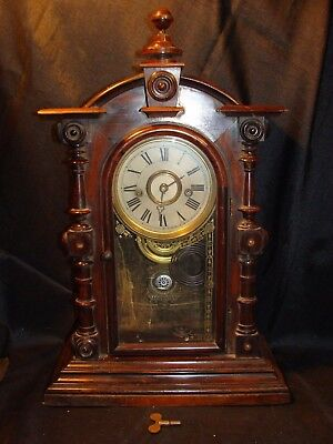 "Welch Clock Forestville Conn., ""Patti V.P. No. 1"" 8 Day Clock 1870's For Repair"