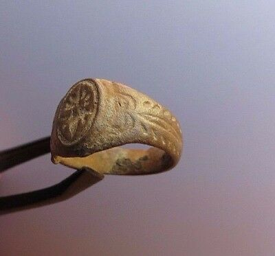 Nice Ancient Viking Bronze Ring - Detector Find.