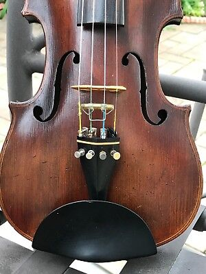 "Antique "" Schweitzer "" Violin, One Piece Back,  Corners Blocked, Amazing Sound !"
