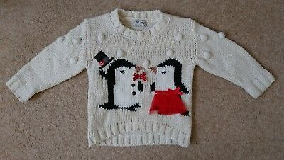 Next baby girl Christmas jumper 9-12 months