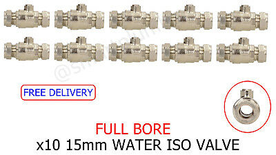 X10 15mm FULLBORE ISOLATION BALLOFIX VALVE C/P *FREE DEL* *BULK BUY CHEAP PRICE*