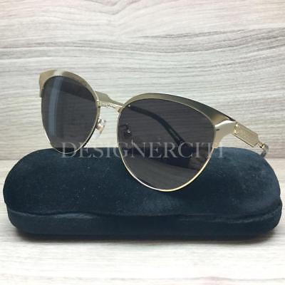 966ef8a56e Gucci GG 0074 S GG0074S Sunglasses Gold Black 003 Authentic 57mm