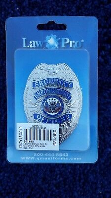 New Silver LawPro Deluxe Security Enforcement Officer Badge