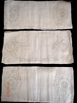 """~VINTAGE x 3 SMALL TRAY CLOTHS """"THE STITCHERY""""- NEW & UNUSED, READY TO COMPLETE~"""