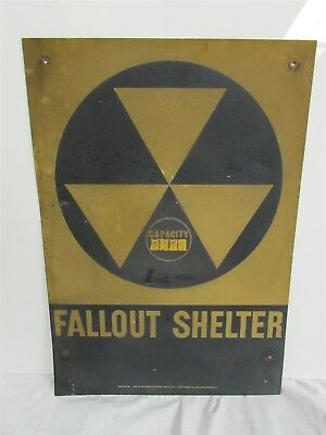 Original Department of Defense Fall Out Shelter Sign 1950s