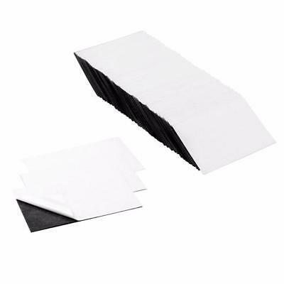 3.5 x 2 Inch Business Card Flexible Self-Adhesive Magnetic Sheets (100 Pieces)