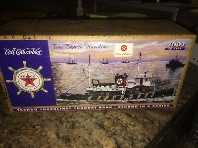2001 Texaco Havoline Millennium Tugboat Bank-2nd In Series Special Edition - new