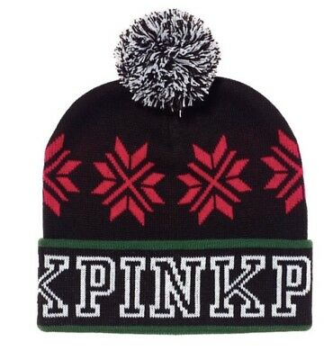 Victorias Secret PINK Beanie Hat Limited Edition Pink Nation -2017 -RP$24.95 NWT