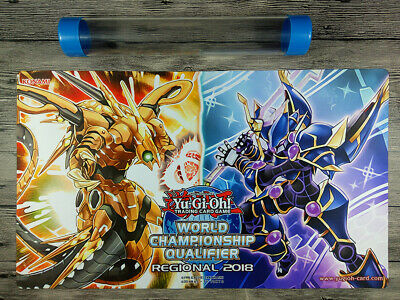 2018 YuGiOh Topologic Bomber Dragon & LINK MONSTER TCG Playmat  Free Best Tube