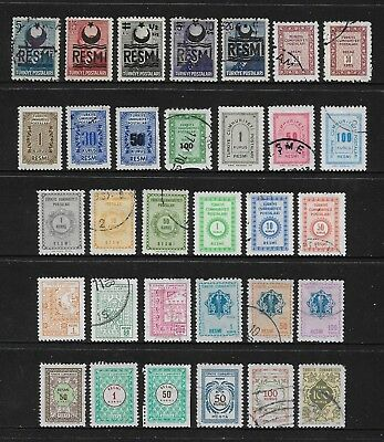 TURKEY mixed collection, Official stamps No.4, incl Resmi overprint