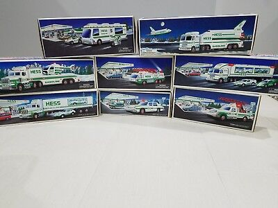 Lot of 8 Hess Trucks 1992 - 1999 IN ORIGINAL BOXES