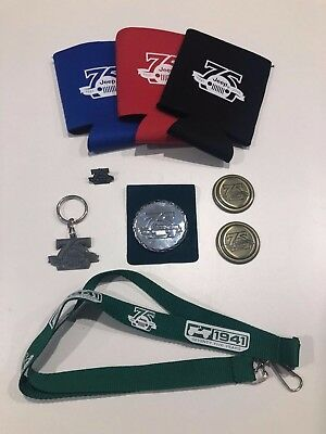 Jeep 75th Anniversary Merchandise Pack with Gold Rnd Vehicle Badges -Brand New