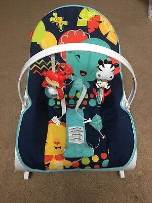 Baby Bouncer Chair Bouncy Seat Rocker Vibrating Infant Toddler Fisher-Price Blue