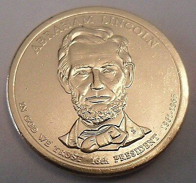 2010 D Abraham Lincoln  Presidential Dollar Coin   **FREE SHIPPING