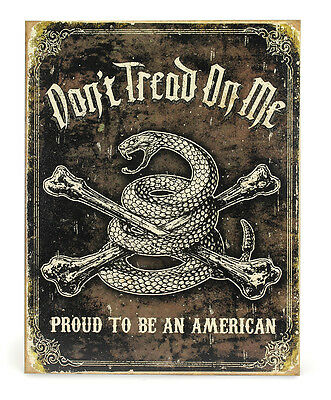 Don't Tread on Me Proud American Tin Sign