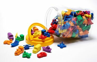 Counters for Maths Transport Plane Boat 72 pieces Different Shapes Sizes Colours