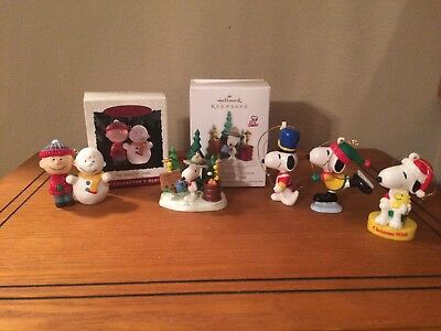 Peanuts Charlie Brown Snoopy Christmas Ornament Lot