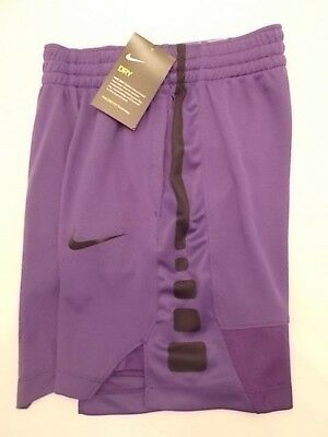 Nike Elite Stripe Basketball Shorts DriFit Purple Black 850877-547 Boys S M L XL