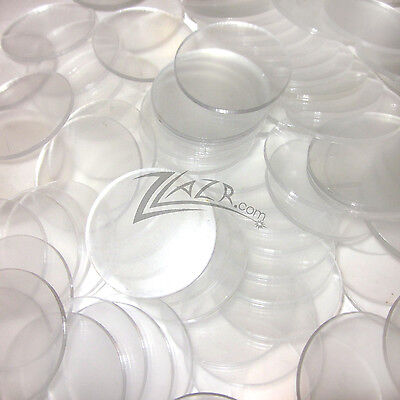 "(50) 1.25""x1/8"" Clear Acrylic Circle Disc Plastic Plexiglass Wafer Craft Tag USA"