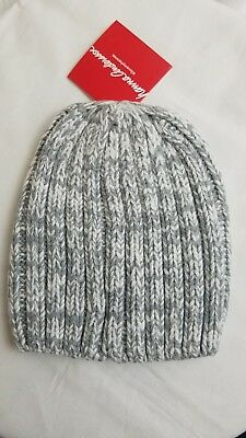 HANNA ANDERSSON GREY COTTON  LINED WINTER HAT NWT * Small