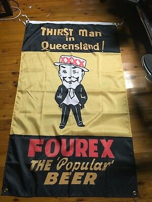 Huge old fourex Qld mancave bar flag poster man cave bar ware pool room xxxx