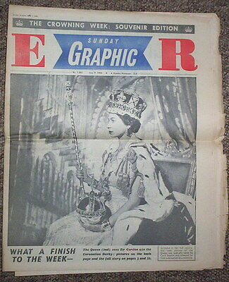 The Queen Coronation -Sunday Graphic June 1953. Very Rare