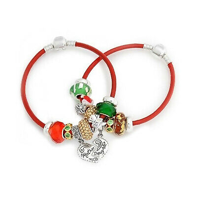 Mother/'s Day 925 Sterling Silver Bracelet Crystal Beads With Heart GiftPkg