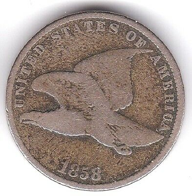1858 Flying Eagle Cent Penny US Coin One 1 Cent Small Letters