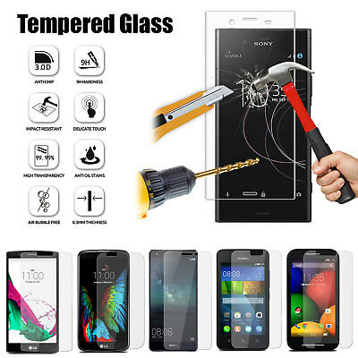 100% Genuine Tempered Glass LCD Film Screen Protector Cover For Mobile Phones