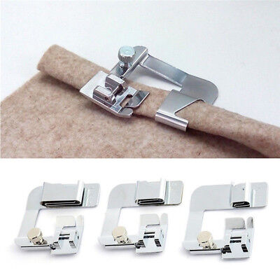 For Brother Singer Sewing Machine Foot Presser Rolled Hem Feet Stainless Steel