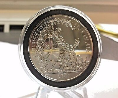 2007 Great Britain 2 Pounds - Britannia Silver 1 oz Coin *Beautiful Low Mintage*