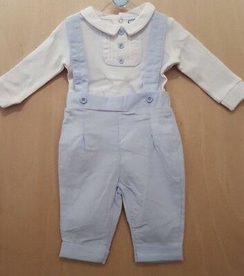 Spanish Style Baby Boy Trousers and Top Set / Outfit in Blue and White