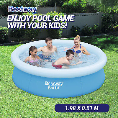 New BESTWAY Inflatable Round Pool Swimming Pool for Family Kids Child 57252