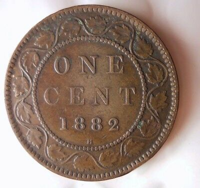 1882 H CANADA CENT - High Grade - EXCELLENT Scarce Date Coin - Lot #D9