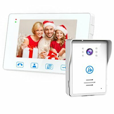 SAFEBAO Wired Video Door Phone Intercom System 7-inch Color Monitor and HD