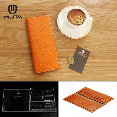 WUTA Long Wallet Acrylic Template Leather Stencil Pattern Diy Craft Tools 865