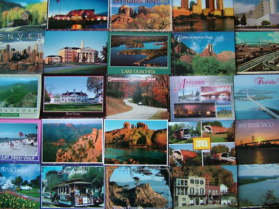 100 Unused Postcards THE UNITED STATES OF AMERICA.  Very good condition.