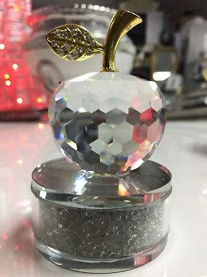 Crystal Apple Ornament