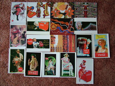 17 COCA COLA Postcards ADVERTISING CARDS/POSTERS. Unused. Mint condition.