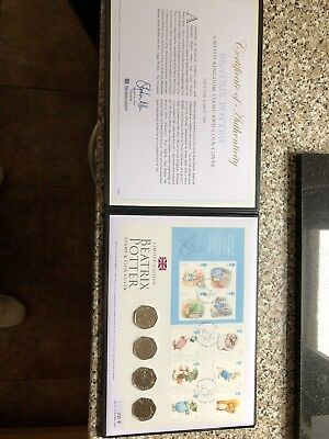 Beatrix Potter 2017 ultimate coin and stamp cover