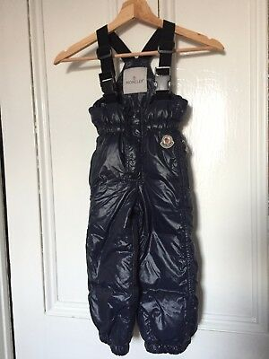 Genuine Moncler child 4 - 6 salopettes snow dungarees navy skiing snowboarding