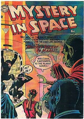 Mystery In Space #4 Whitworth Facsimile Comic: Dc Comics 1954