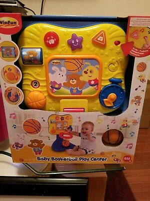 New Winfat Baby Basketball Play Center, Yellow