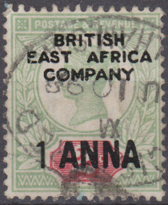 British East Africa 1890 Used 1a on 2d Grey Green & Carmine SG2 Cat £275