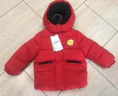 BNWT Boys Marks & Spencer M&S Red Stormwear Quilted Coat 12-18 Months