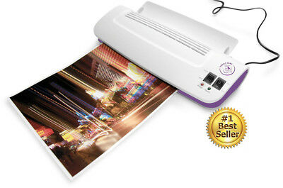 Thermal Laminator Machine With 100 Pack Laminating Pouches Sheets Hot Cold NEW